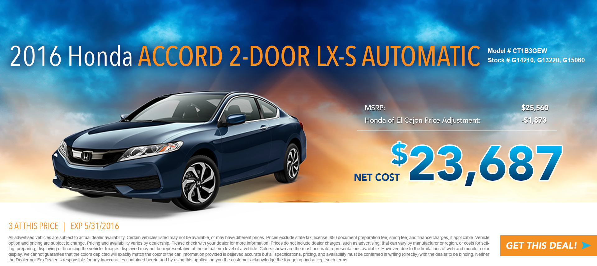 Accord Coupe Special