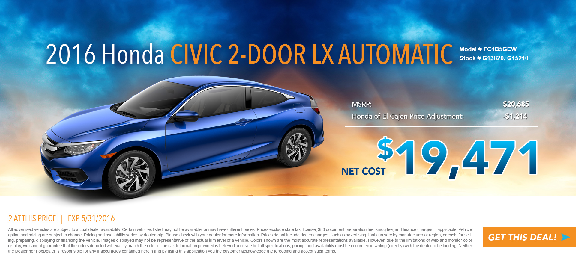 Civic Coupe Special