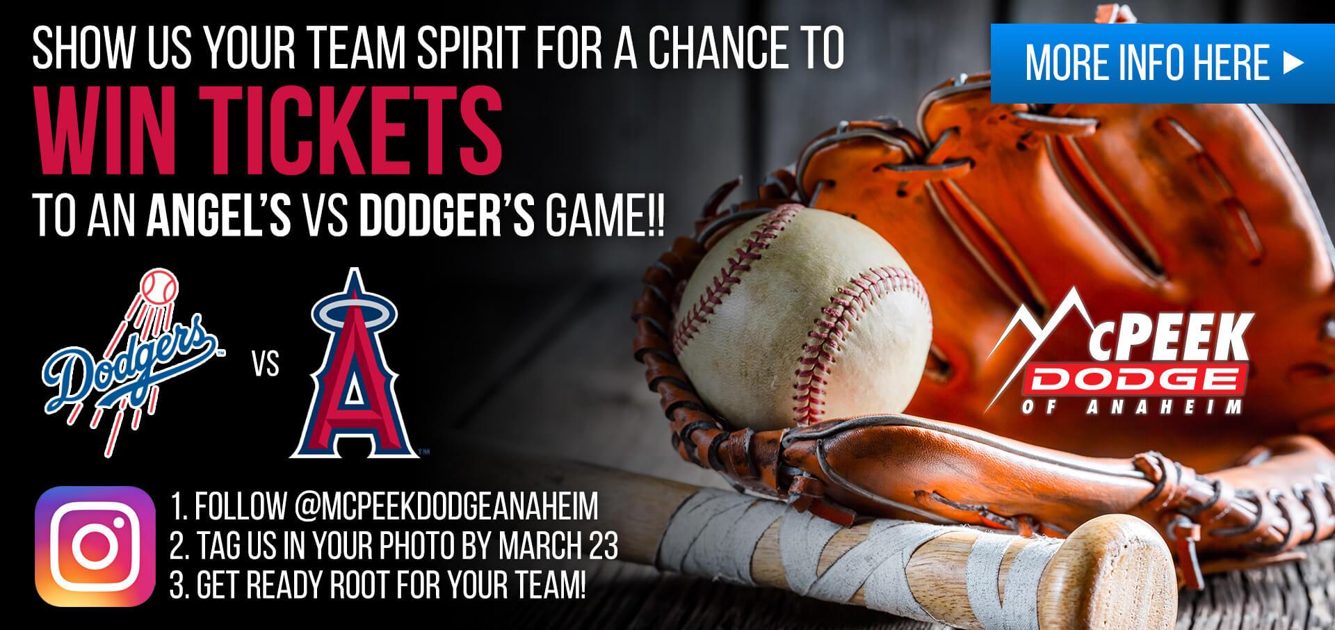 Angels/Dodgers Giveaway