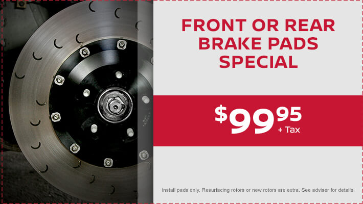 Front or Rear Brake Pads Special