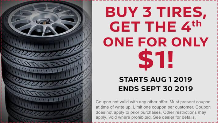 Tires Buy 3 get 1