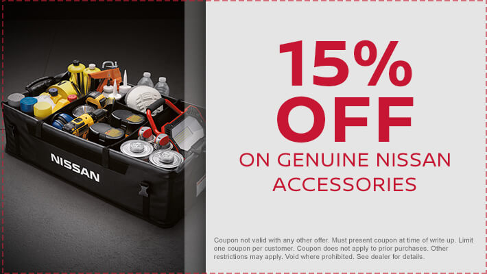15% Off Genuine Nissan Accessories