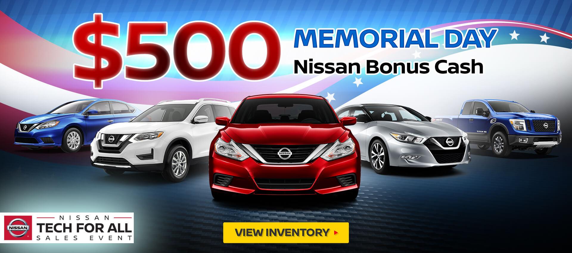 Nissan Memorial Day Bonus Cash
