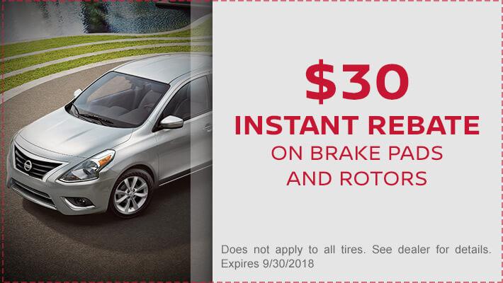 $30 Instant Rebate on Brake Pads