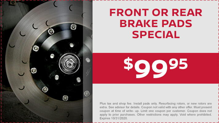 Front & Rear Brake Pad Special
