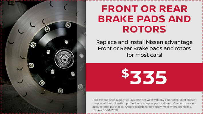 Front or Rear Brake Pads and Rotors