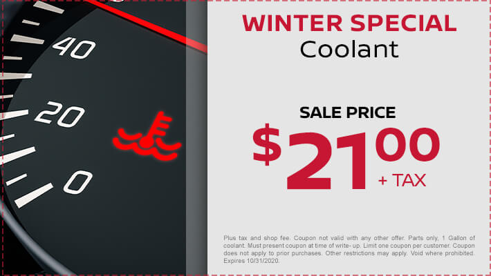 Winter Coolant Special