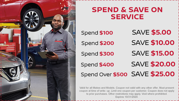 Spend and Save on Service