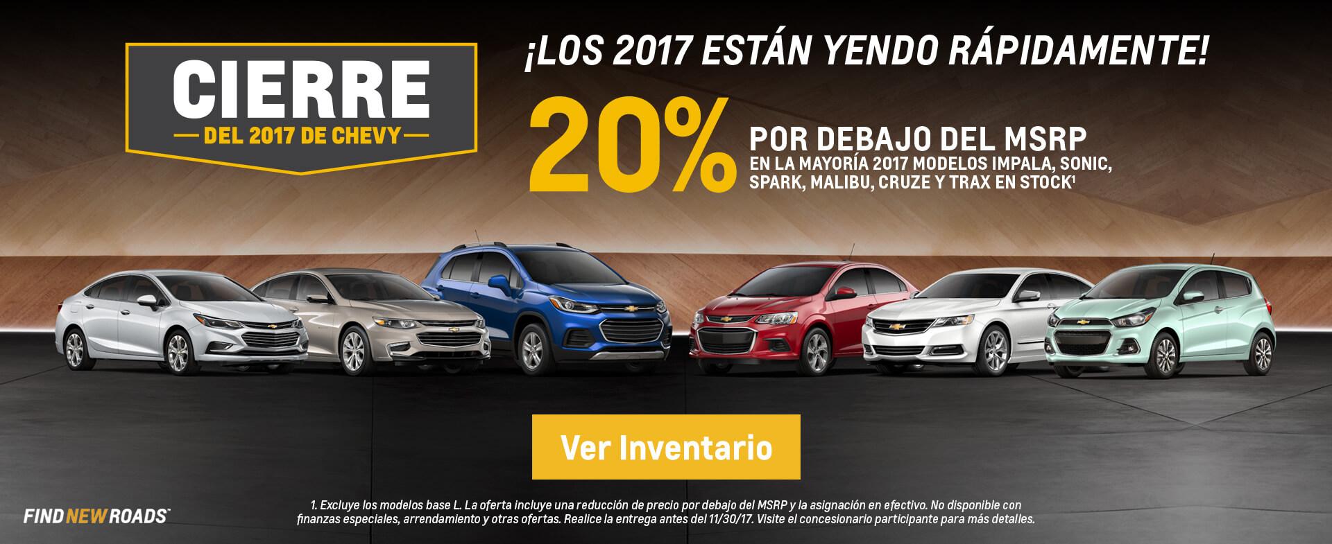 Cierre Del 2017 De Chevy