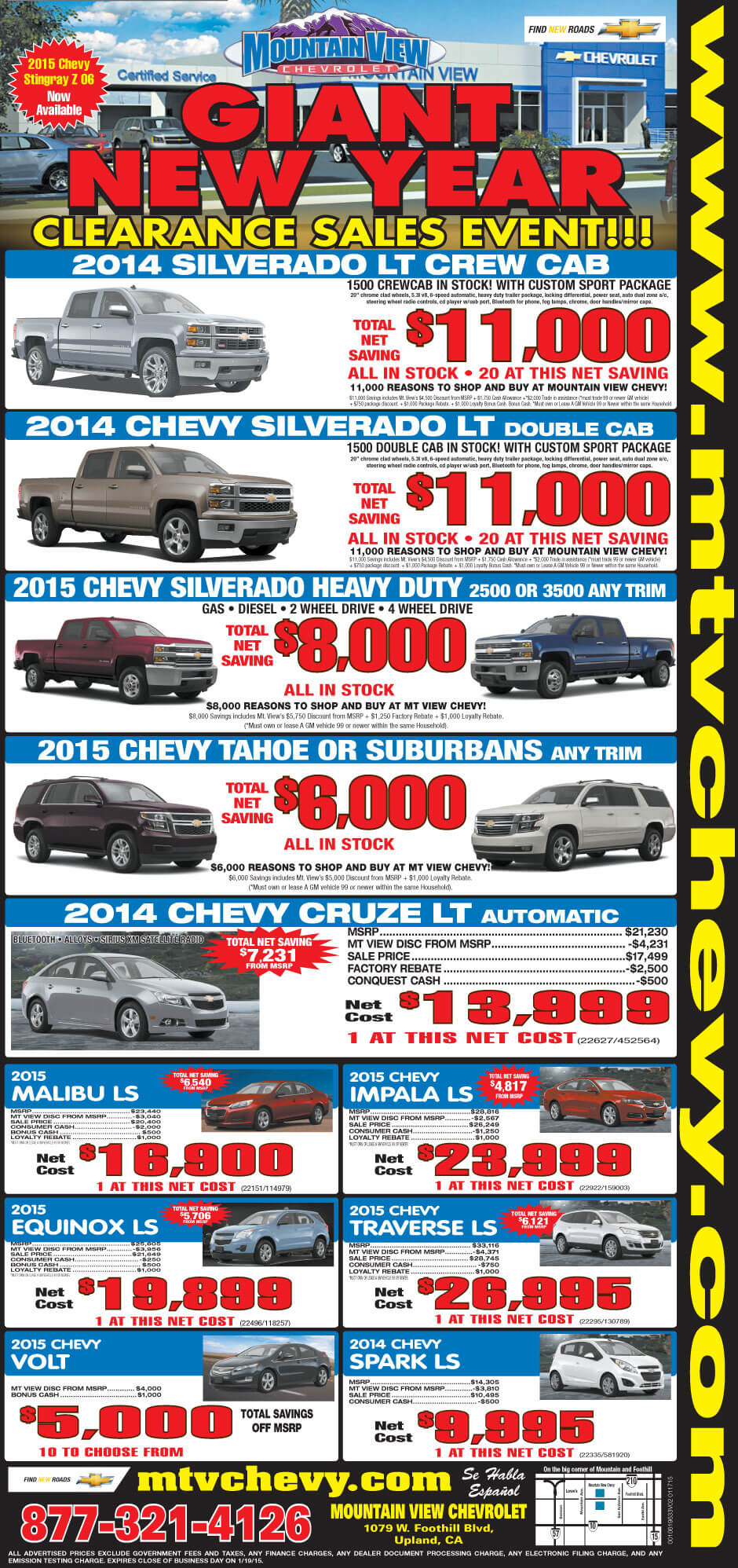 12015weeklyad Mountain View Chevrolet