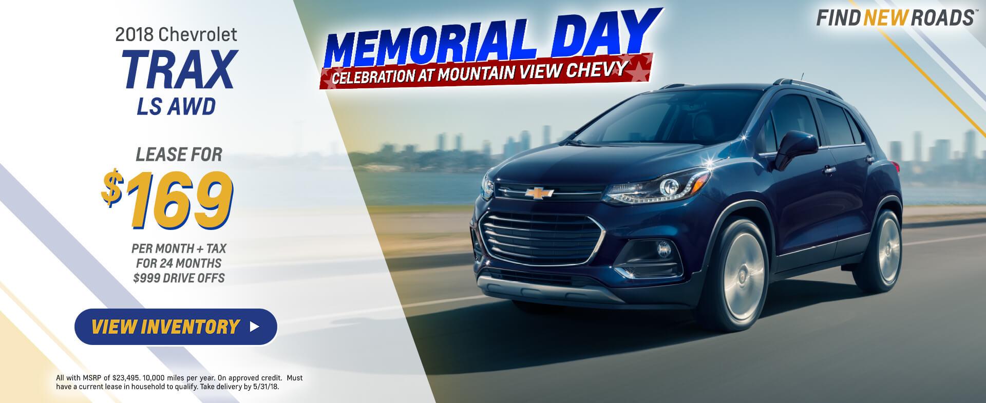 2018 Chevrolet Trax $169