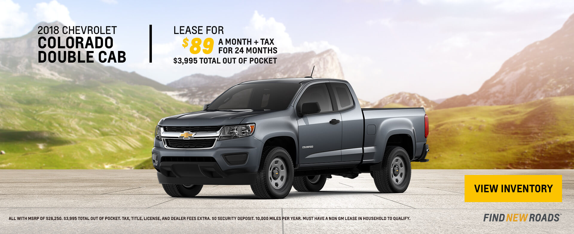 2018 Chevy Colorado $89