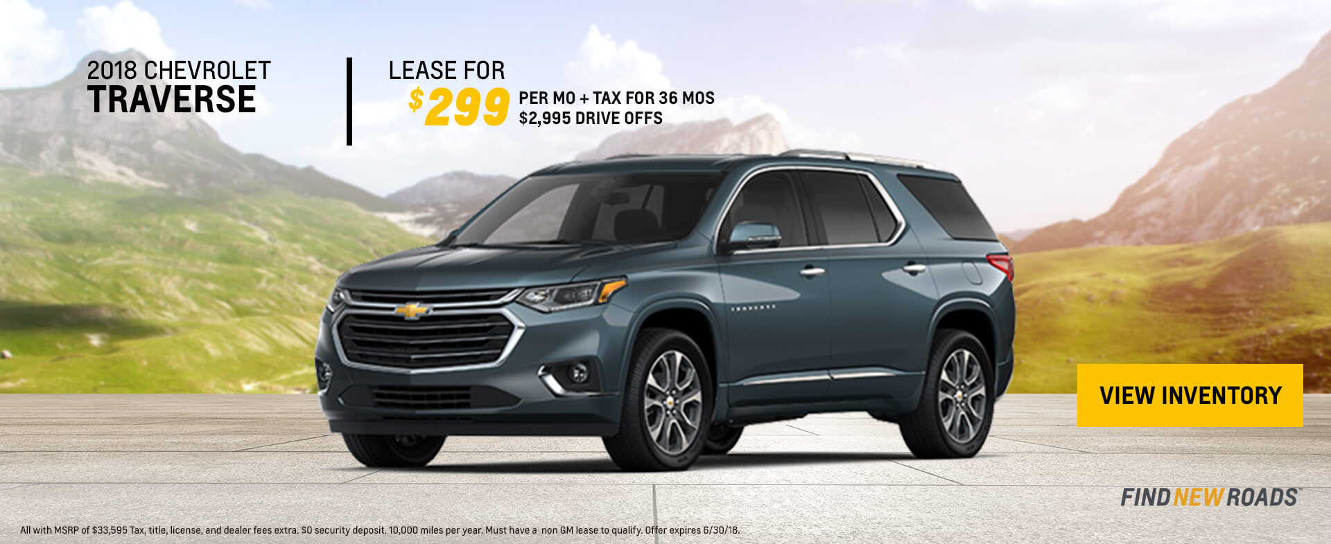 2018 Chevy Traverse $299