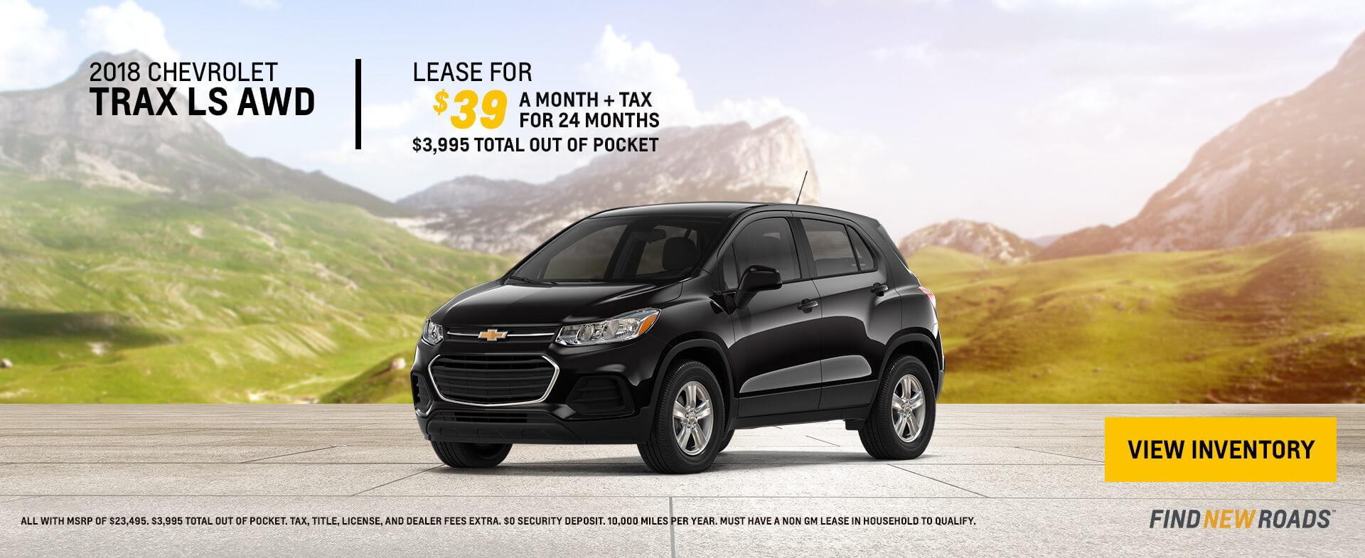 2018 Chevrolet Trax $39