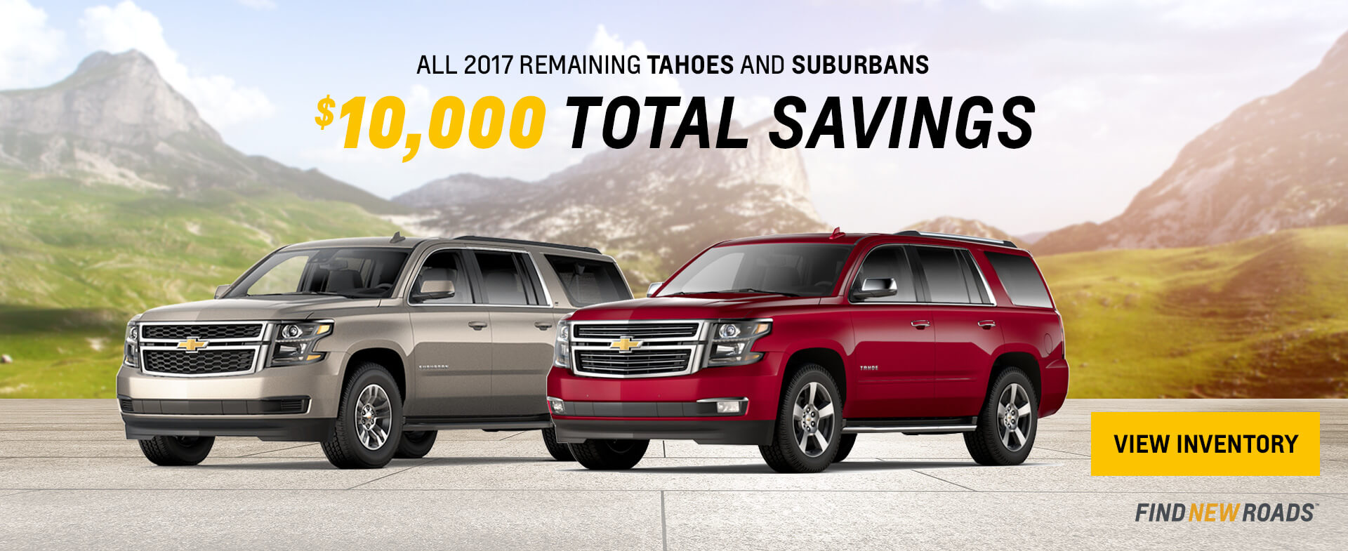 Tahoe Suburban $10000 Savings