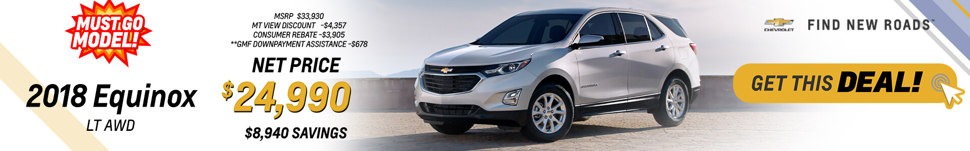 2018 Chevy Equinox Purchase for 24,990