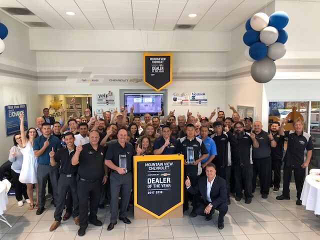 Mountain View Chevrolet - Dealer of the Year