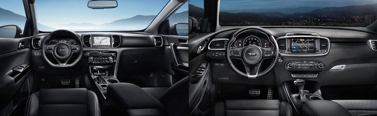 2018 Kia Sportage & Kia Sorento Interior