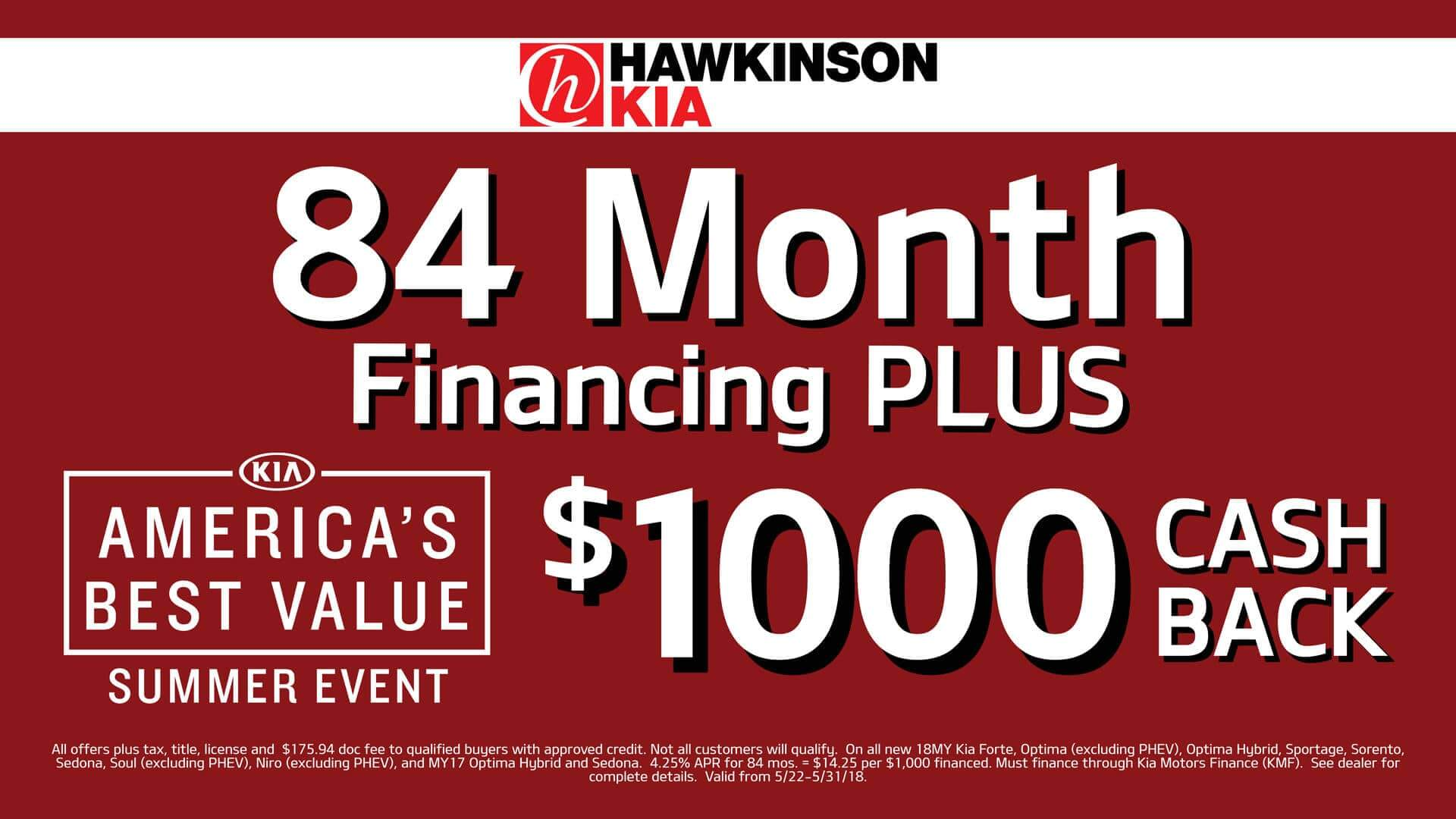 84 Months Financing PLUS
