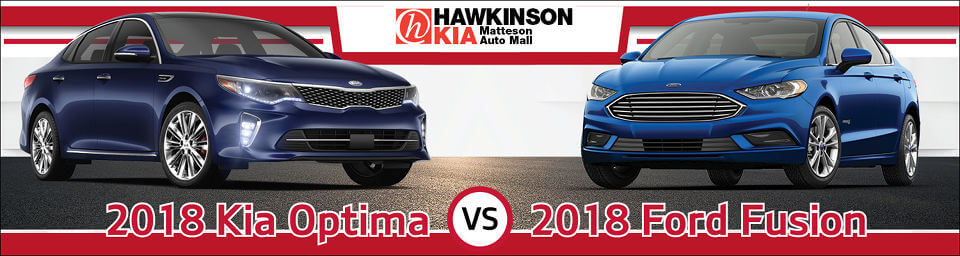 2018 Kia Optima vs. Ford Fusion