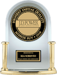 JD POWER AWARD Kia Sorento