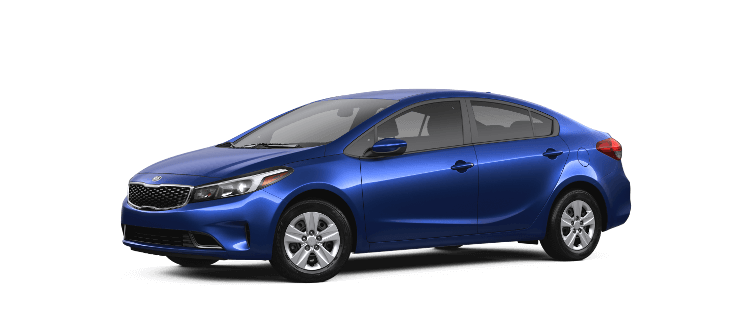 A blue Kia Forte