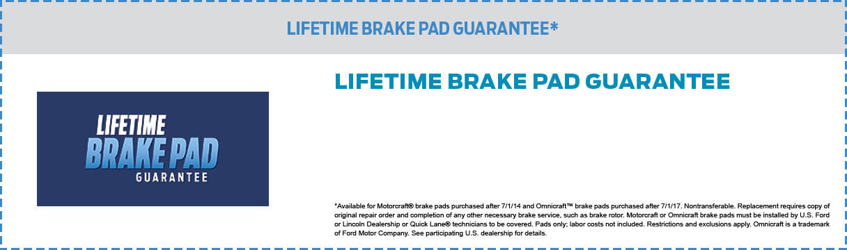 Brake Pad Guarantee