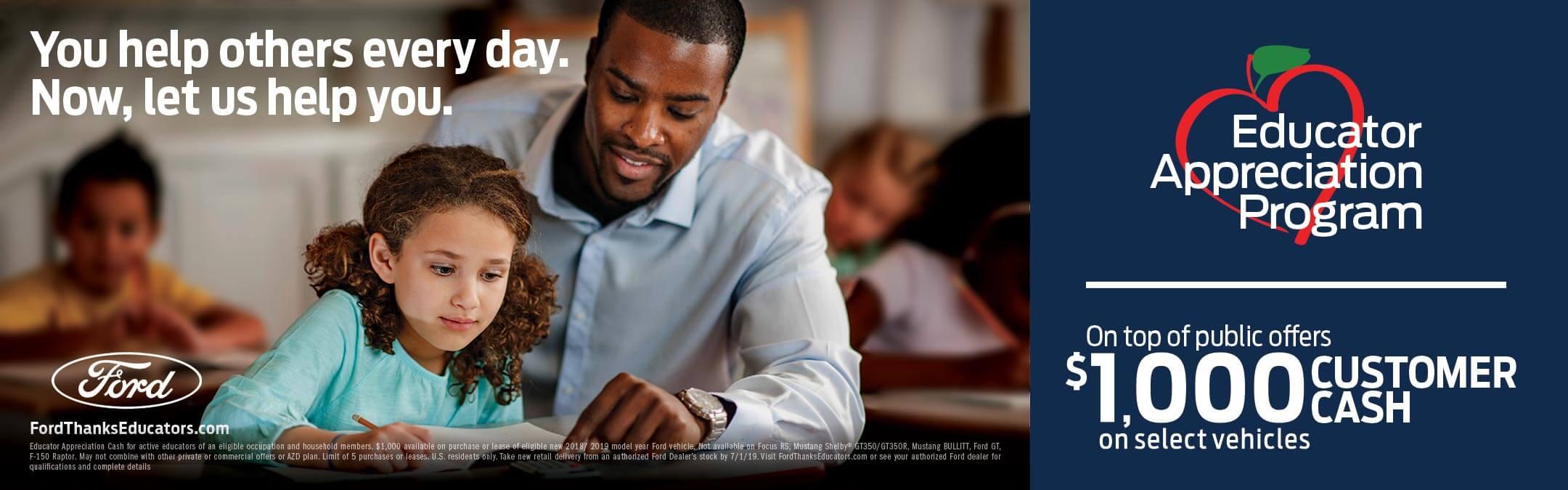 Ford Educator Appreciation Program