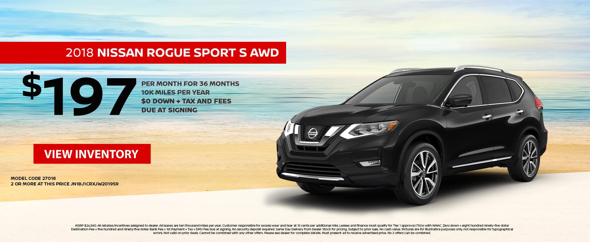 Nissan Rogue Sport $197 Lease