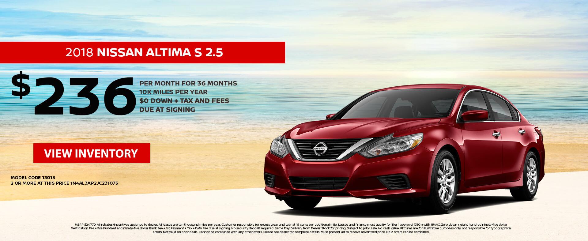 Nissan Altima $236 Lease