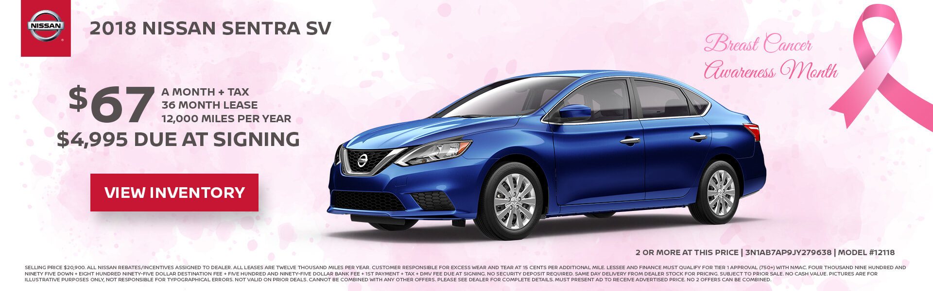 Nissan Sentra $67 Lease