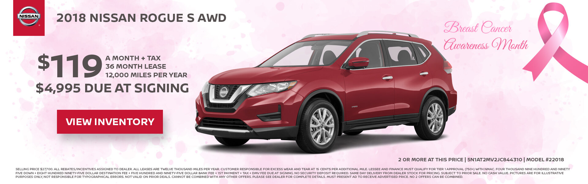 High Quality Nissan Rogue $119 Lease