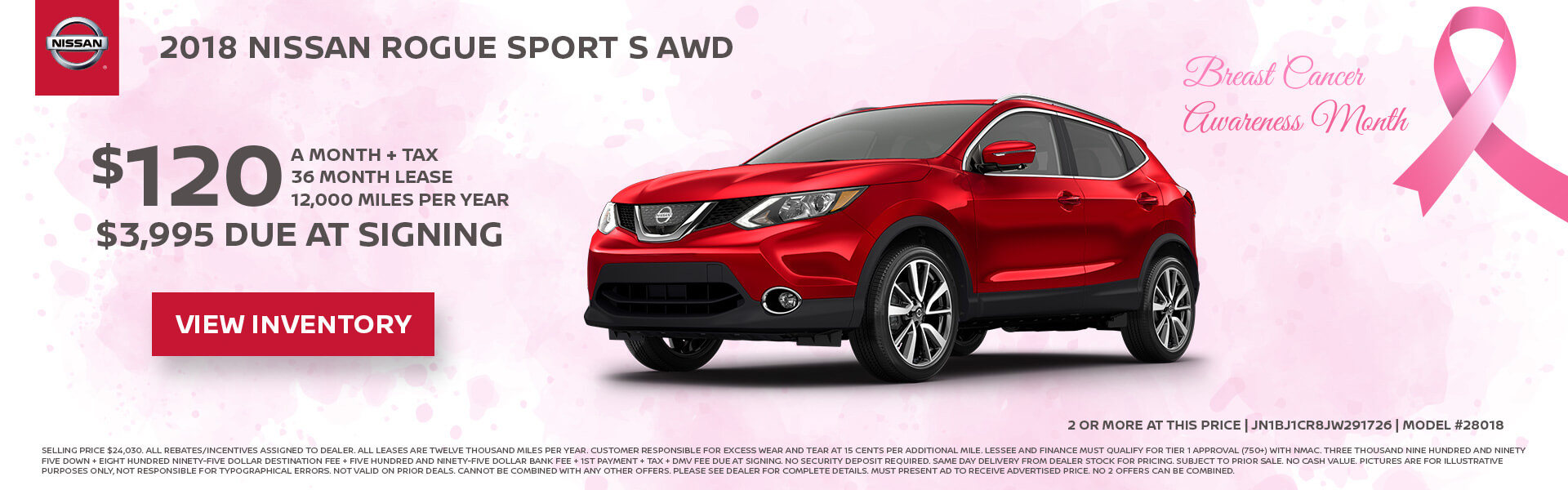 Nissan Rogue Sport $120 Lease