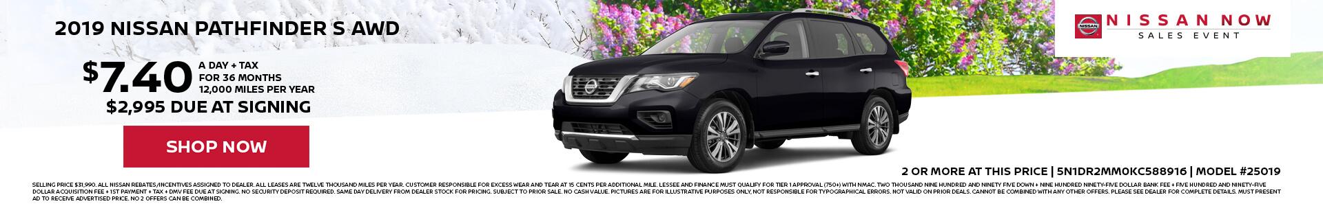 Nissan Pathfinder $7.40 Lease