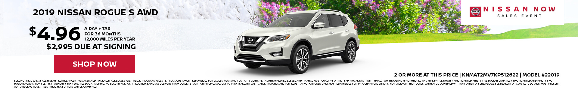 Nissan Rogue $4.96 Lease