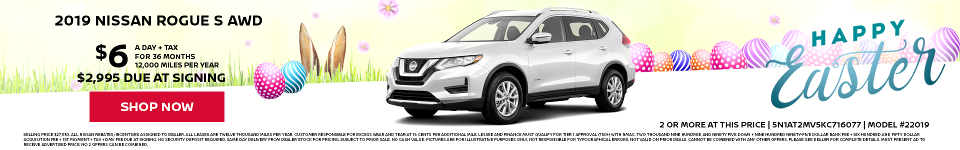 Nissan Rogue $6 Lease
