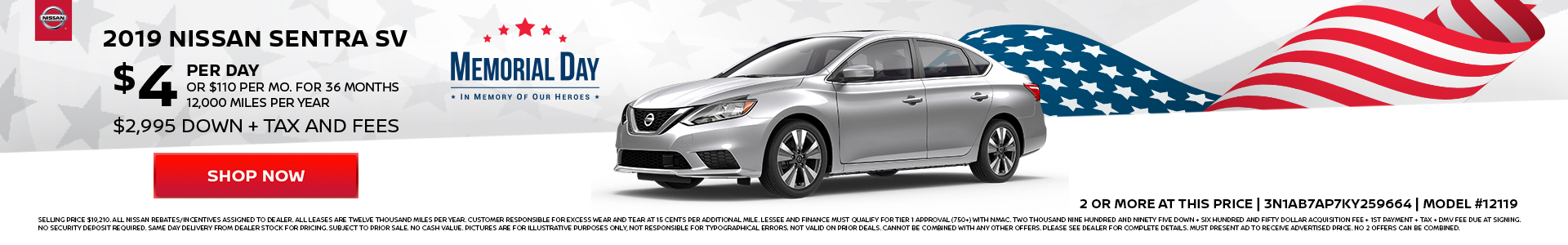 Nissan Sentra $4 Lease