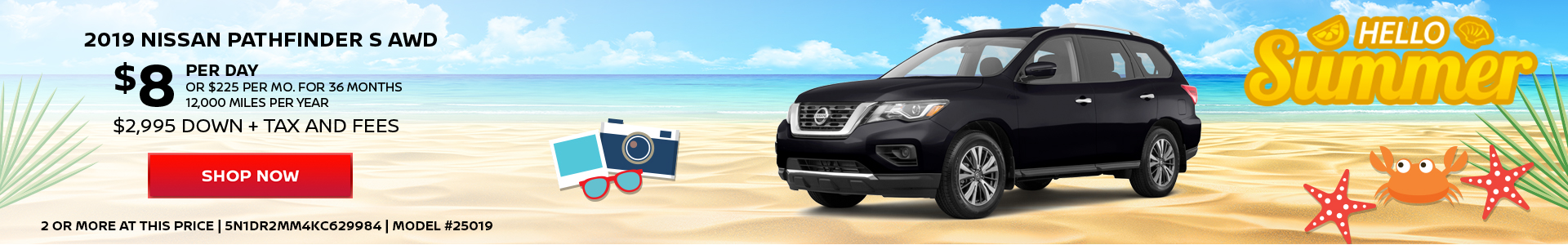 Nissan Pathfinder $8 Day Lease