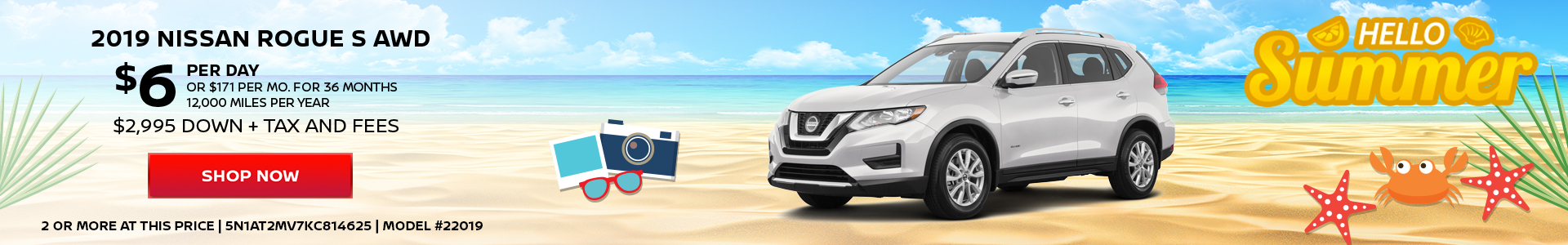 Nissan Rogue $6 Day Lease