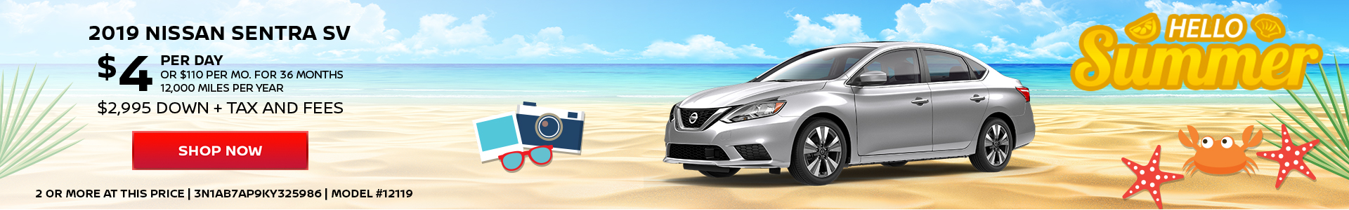 Nissan Sentra $4 Day Lease