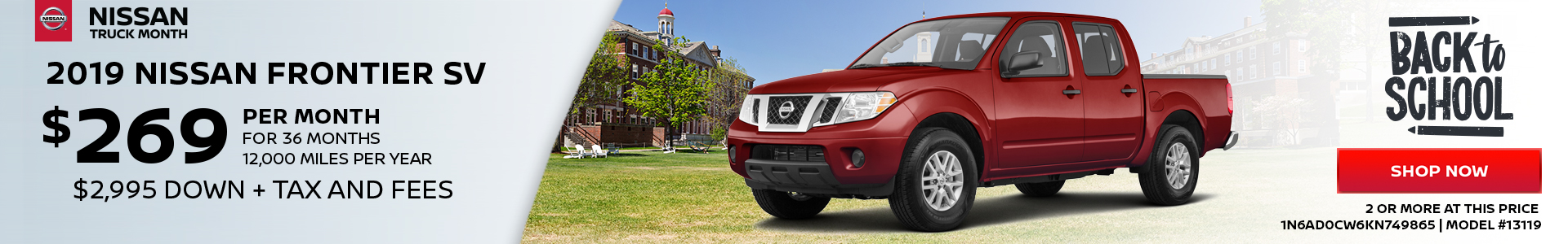 Nissan Frontier $269 Lease
