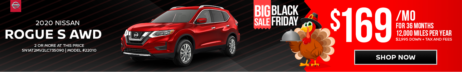 Nissan Rogue $169 Lease