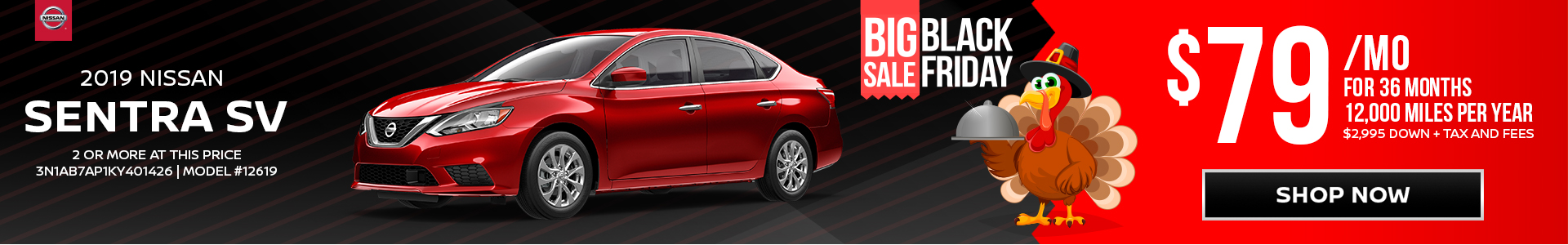 Nissan Sentra $79 Lease