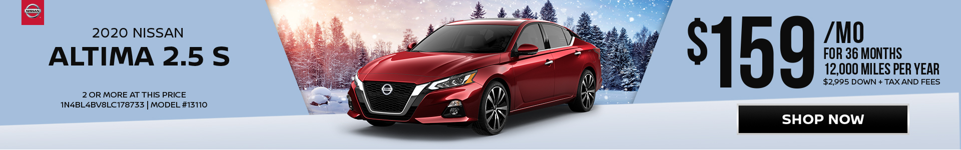 Nissan Altima $159 Lease