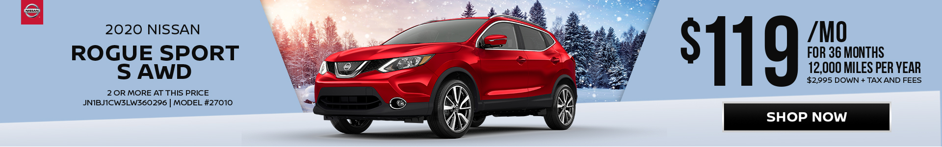 Nissan Rogue Sport $119 Lease
