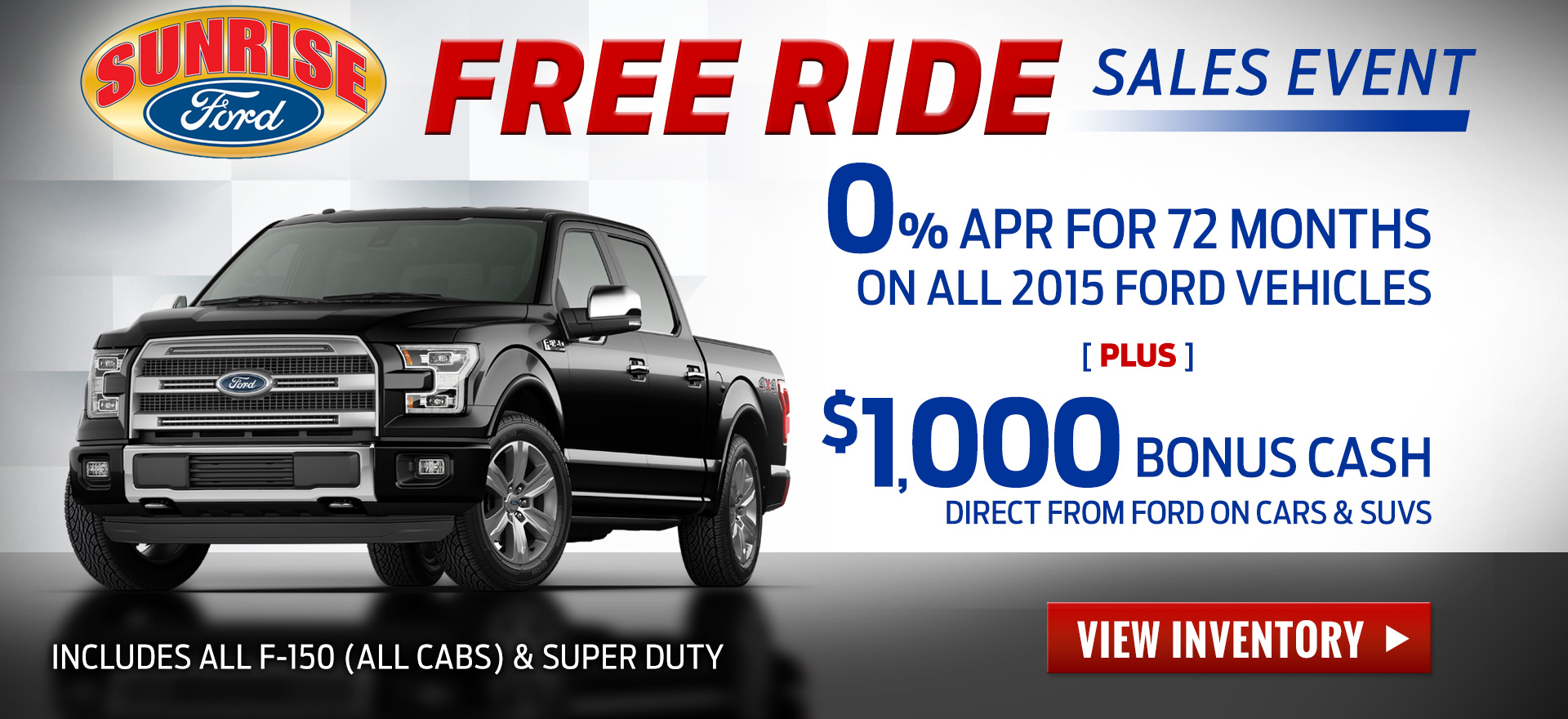 Free Ride Sales Event