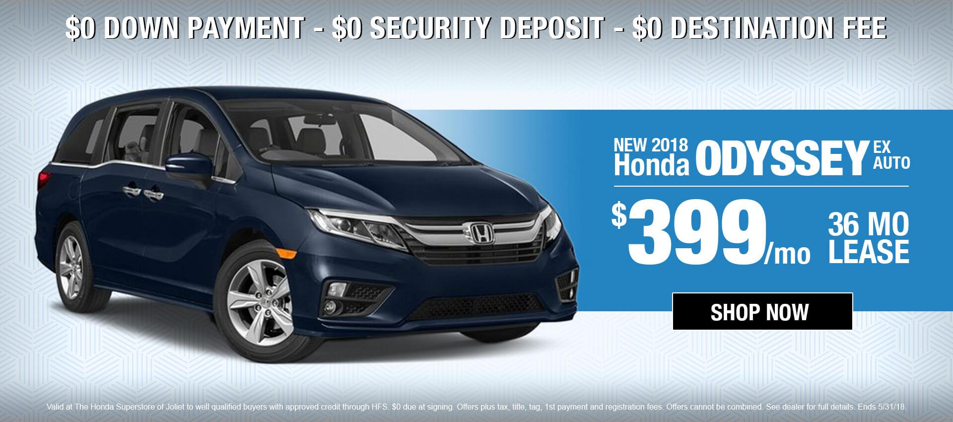 2018 Honda Odyssey EX $399