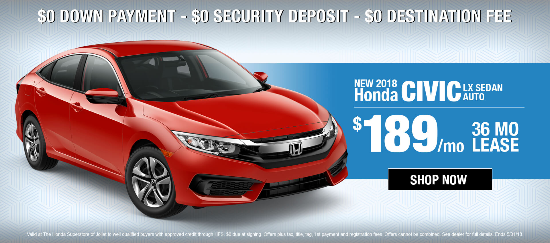 2018 Honda Civic $189