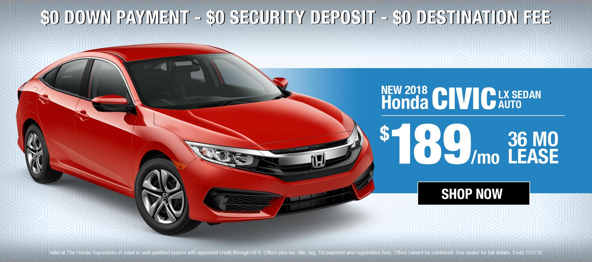 2018 Honda Civic $189