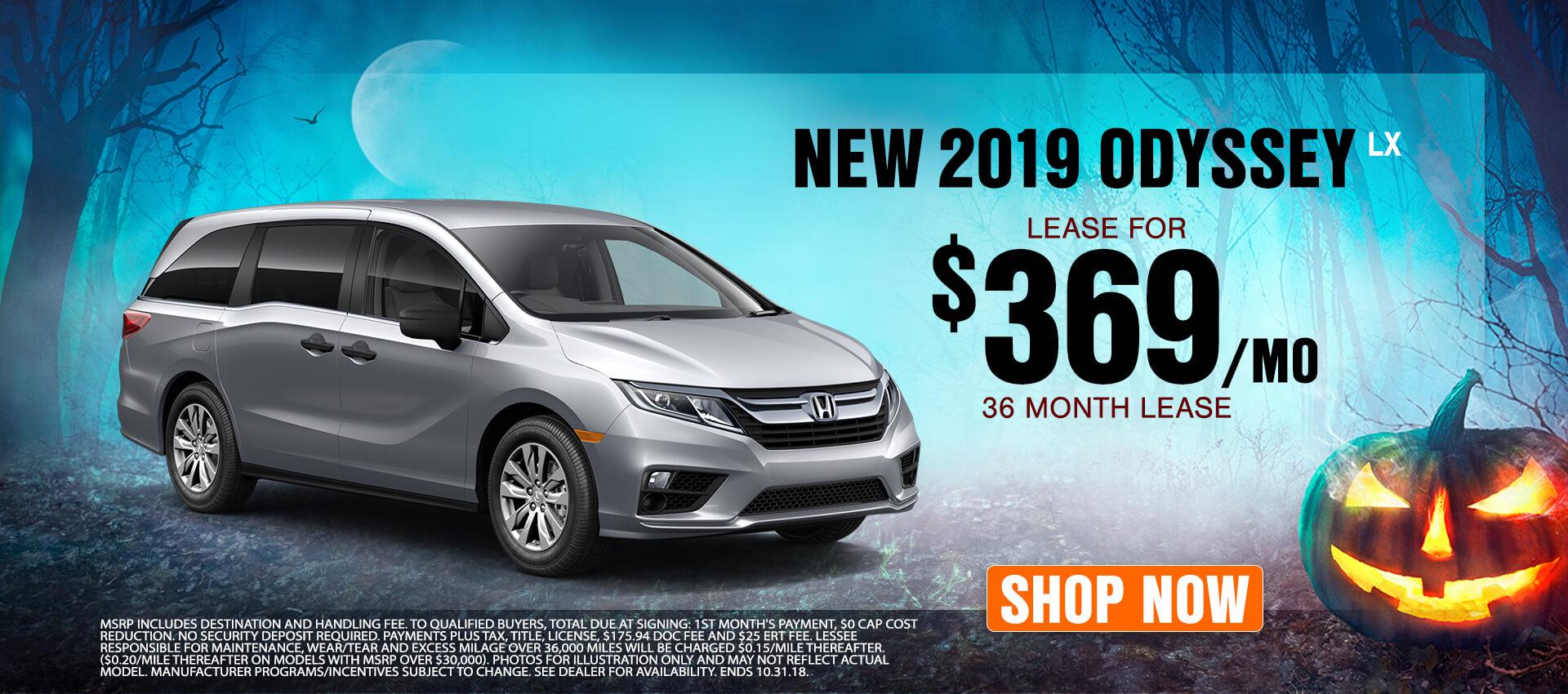 2019 Honda Odyssey $369